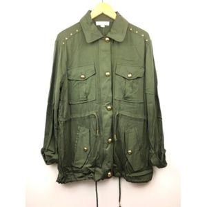 NEW Green Military Jacket Michael Kors